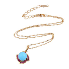 30954 Xuping diseño simple color dorado concha de perla colgante para mujeres