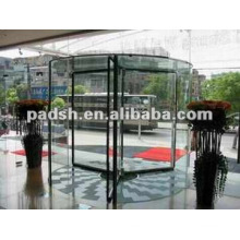 3-wing automatic glass revolving door