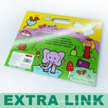 Fashionable Design Custom Hard Cover Coloring Children Printing Wire Binding Book