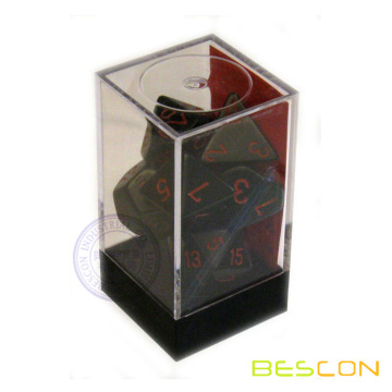 Popular Brick Packing Dice Set, Brick Box for Dice, Plastic Box Dice Packaging, Brick Dice Set