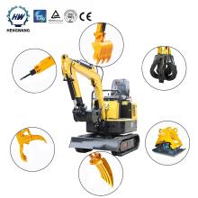 CE EPA Support Small Crawler Excavator Mini Excavators 1 Ton Digger