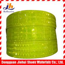 Fluorescente amarillo PVC Micro prisma cinta reflectante para ropa de seguridad