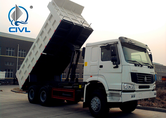 Howo 6x4 Dump Truck White Color 5