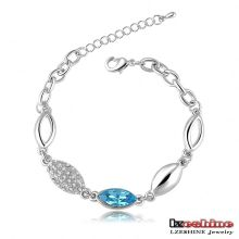 Blue Sapphire Swa Elements Bracelet à chaîne en cristal autrichien (CBR0016-B)