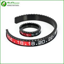 Pulseira de velocímetro e conjunto de anel em aço inox para homens