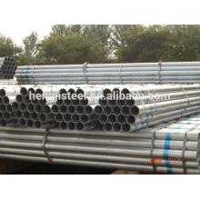 BS 1387 erw galvanisé stee pipe
