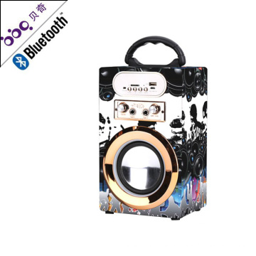 Portable Multimedia Karaoke Bluetooth Speaker with Disco Lights