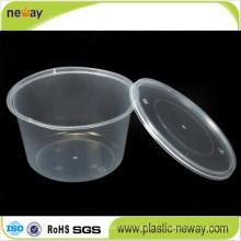 Boîte à lunch jetable en plastique allant au micro-ondes