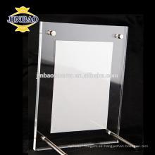 JINBAO Navidad barato cristal claro marcos de fotos de acrílico marco sin marco
