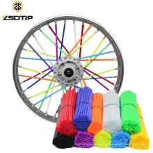 Universal Colorful Enduro Motorcycle Wheel Rim Cover Spoke Skins Shrouds Wrap Tube For zx6r tmax