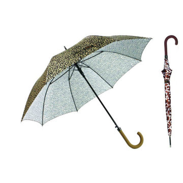 Gerader automatischer Tierhaut-Druck-Regenschirm (YS-SA23083927R)