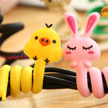 Fashion New Design Silicone Pop-up Cord Wrap for Earphone