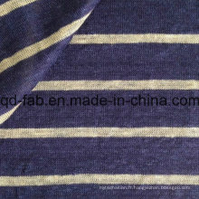 Tissu en lin tricoté au fil (QF15-2048)