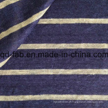 Fios tingidos de lã tecido de linho tricotado (QF15-2048)