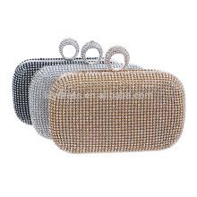 2016 Серебряный дамы вечер сцепления мешок мешок невесты для Свадебные вечерние использовать для новобрачных сумки B00006 элегантный узор сумочка