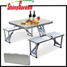 Kleiner tragbarer faltender Koffer-Tisch mit 4 Stühlen für Picknick im Freien kampierend