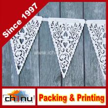 White Paper Coração Lace Triângulo Banner Pennant Valentine (420036)