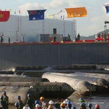 Airbags marinhos do salvamento, airbags de borracha para o lançamento do navio, airbags de levantamento pesados