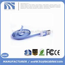 1M 3ft Colorful Flat Micro Usb Sync Data & Charge Cable Cordon de recharge pour Samsung S3 S4 pour HTC Pour téléphones Nokia pour Android