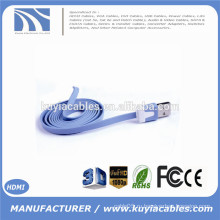 1M 3ft Красочный плоский Micro USB Usb Sync данных и зарядный кабель Зарядный кабель для Samsung S3 S4 для HTC для Nokia Для телефонов Android