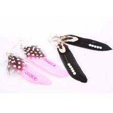 Wholesale natural indian feather earrings