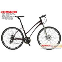 700 C rueda de aleación de bicicletas híbridas con Shimano 21 velocidad (AP-70017)