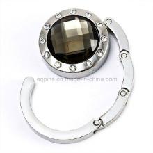 Fashion Crystal Handbag Hook with Diamond (bag hanger-03)