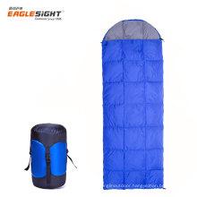 Envelop Shape White Duck Down Camping Sleeping Bag Light Weight Down-proof Winter Sleeping Bag