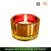 Fournisseur de bougies en verre Mosaic Glass Tealight pour décoration intérieure