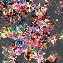 Digital Printed Silk Cotton Fabric for Dress (XF-0098)