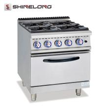 Gama de gas serie 700 de alta calidad con 4 quemadores y equipo de cocina grande con horno eléctrico