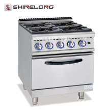 High quality 700 Series Gas Range With 4-Burner And Electric Oven large cooking equipment