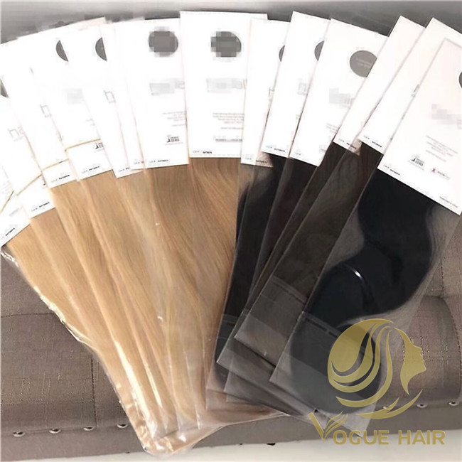 hair extension bags packaging