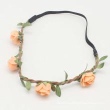Flores de flores de melocotón Flower Girl Hairband (HEAD-283)