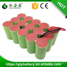 ni-mh 18V 3000mAh D paquete de batería recargable