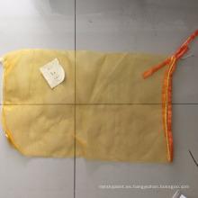 bolsa de malla tubular pe para jengibre, patata con etiqueta