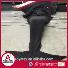 Crocheted Soft Acrylic Mermaid Tail Blanket For Sleeping Bag