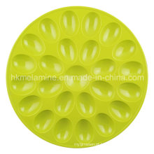 Bandeja de ovos de melamina redonda (TR6687)