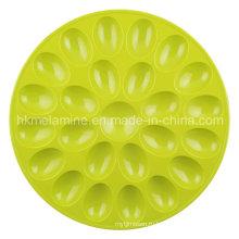 Круглый меламиновый поднос для яиц (TR6687)