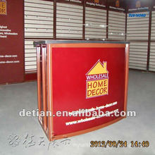 0.9m height light collapsible and portable unique reception desk