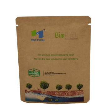 Biodegrade Pla Kraft Paper Doypack With Window