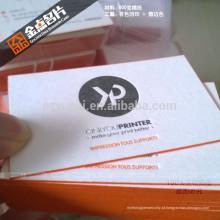 Impressora de cartão de visita reciclado de papel de luxo impresso com tipografia impressa