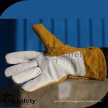 SRSAFETY Высококачественные сварные рабочие кожаные перчатки в Китае