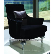 Black velour upholstered hotel bedroom chairs XYD431