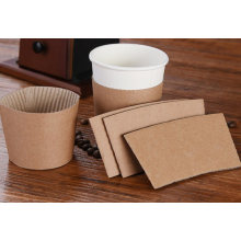 Custom Printing Adjustable Corrugated Paper Cup Holder Sleeves for Plastic Cup and Paper Cups