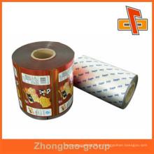 Embalagem fabricante laminação embalagem de alimentos filme plástico saco para lanche