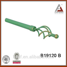 B19120B decorative tension curtain rods leaf finial,double rail curtain accessories