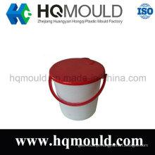 Balde plástico com tampa/injeção do molde
