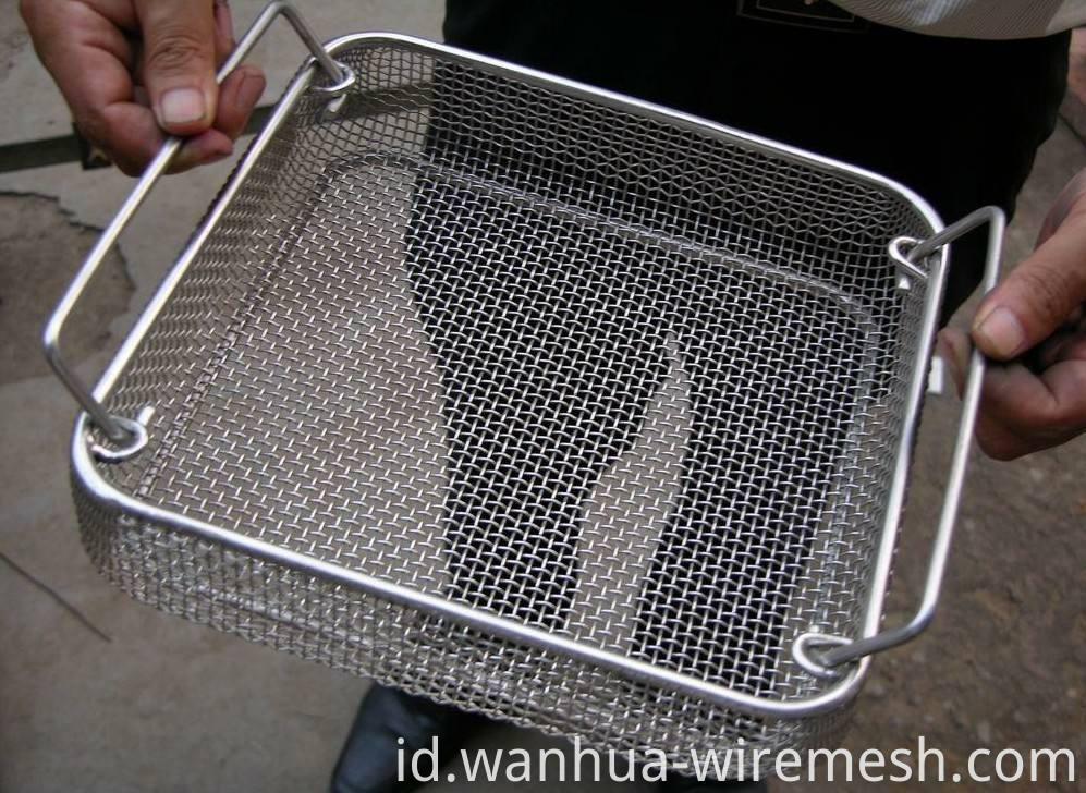 Hospital disinfection surgery SS basket