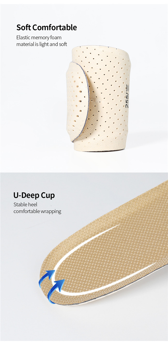 pu foam military insole soft comfrotable U-Deep Cup